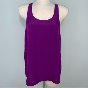 Purple pocketed tank